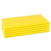 ECR4Kids 5-Piece Rainbow Rest Mat Set - Yellow