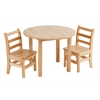 "ECR4Kids 30"" Round Hardwood Table with 18"" Legs"
