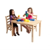 "ECR4Kids 24""x36"" Rectangular Hardwood Table w/18"" Legs"