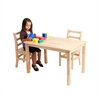 "ECR4Kids 24""x36"" Rectangular Hardwood Table w/22"" Legs"