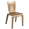 "ECR4Kids 18"" Bentwood Chair - Natural, set of 2"