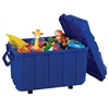 Stackable Storage Trunk - Blue, set of 4