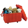 Stackable Storage Trunk - Red, set of 4