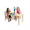 "30""x48"" Rectangular Hardwood Table w/22"" Legs"