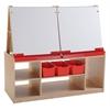 ECR4Kids 4 Station Art Easel with Storage