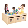 ECR4Kids Birch See & Store Activity Table