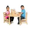 "ECR4Kids 24"" Square Hardwood Table with 22"" Legs"