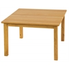 "ECR4Kids 30"" Square Hardwood Table with 18"" Legs"