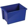 Large Storage Bin without Lid - Blue, set of 6