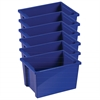 Large Storage Bin without Lid - Blue, set of 6