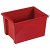 ECR4Kids Large Storage Bin without Lid - Red, set of 6