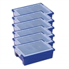 ECR4Kids Small Storage Bins with Lid - Blue, set of 6