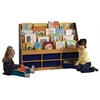 ECR4Kids CE 6 Compartment Book Display w/ Storage - BL