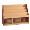 ECR4Kids CE 3 Compartment Book Display w/ Storage - RD