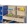 ECR4Kids Colorful Essentials 4-in-1 Play Kitchen - BL