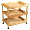 ECR4Kids Birch Hardwood Utility Cart - Natural