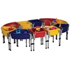 ECR4Kids 10 Station Sand & Water Play Table with Lids