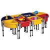 8 Station Sand & Water Play Table with Lids