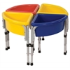 ECR4Kids 4 Station Round Sand & Water Table with Lids