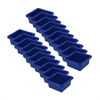 Square Tray without Lid - Blue, set of 4