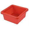 Square Tray without Lid - Red, set of 4