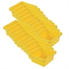 Square Tray without Lid - Yellow, set of 4