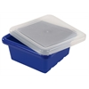ECR4Kids Square Tray with Lid - Blue, set of 4
