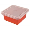 Square Tray with Lid - Red, set of 4