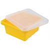 ECR4Kids Square Tray with Lid - Yellow, set of 4