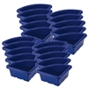 ECR4Kids Quarter Circle Tray without Lid - Blue, set of 4