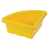 ECR4Kids Quarter Circle Tray without Lid - Yellow, set of 4