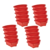 Fan Tray without Lid - Red, set of 6