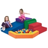 ECR4Kids SoftZone® Primary Climber with Ball Pool