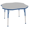 "48"" Clover T-Mold Activity Table, Grey/Blue/Standard Ball"