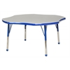 "48"" Clover T-Mold Activity Table, Grey/Blue/Toddler Ball"