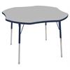 """ECR4Kids 48"""" Clover Table Grey/Navy-Toddler Swivel"""