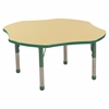 "48"" Clover Table Maple/Green-Chunky"