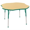 "48"" Clover T-Mold Activity Table, Maple/Green/Standard Ball"