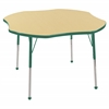 "ECR4Kids 48"" Clover Table Maple/Green-Toddler Ball"