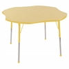 "ECR4Kids 48"" Clover Table Maple/Yellow-Standard Ball"