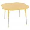 "48"" Clover T-Mold Activity Table, Maple/Yellow/Toddler Ball"