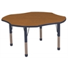 "ECR4Kids 48"" Clover Table Oak/Navy-Chunky"