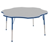 "60"" Flower T-Mold Activity Table, Grey/Blue/Standard Ball"