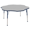 "60"" Flower T-Mold Activity Table, Grey/Navy/Toddler Ball"