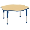 "60"" Flower T-Mold Activity Table, Maple/Blue/Chunky"