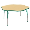 "60"" Flower T-Mold Activity Table, Maple/Green/Toddler Ball"