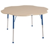 "60"" Flower T-Mold Activity Table, Maple/Maple/Blue/Toddler Ball"