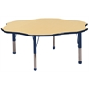 "60"" Flower T-Mold Activity Table, Maple/Navy/Chunky"