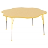 "60"" Flower T-Mold Activity Table, Maple/Yellow/Toddler Ball"