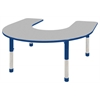 Horseshoe Table Grey/Blue-Chunky